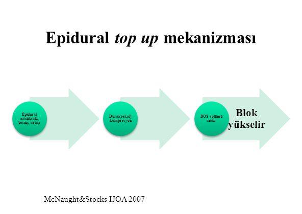 McNaught&Stocks IJOA 2007 Epidural top up mekanizması