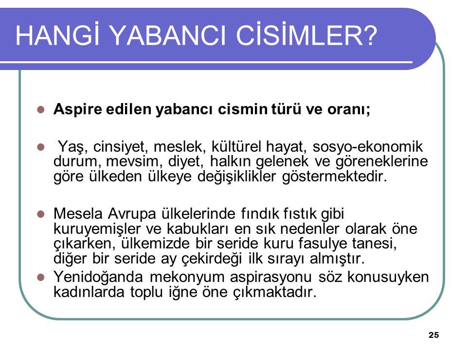 25 HANGİ YABANCI CİSİMLER.