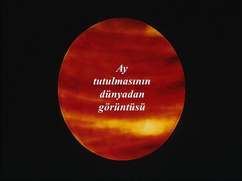 AY TUTULMASI Dünya Güneş ile Ay'ın arasına girer. Güneş ışınları Dünya'nın çevresini dolanamadığı için Ay karanlıkta kalır.