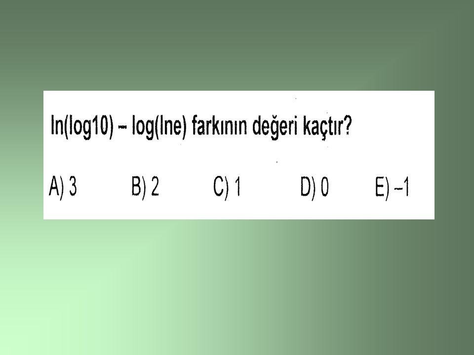 Her ne kadar her pozitif sayı taban olarak kullanılırsa da genel olaraklogaritma 10 ve (e) (yaklaşık, 2,718281828) tabanına göre hesaplanır.