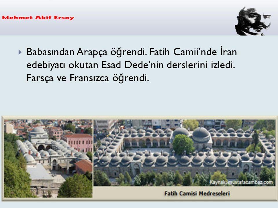  Mehmed Âkif in 1911yılında 38 yaşında iken yazmış oldu ğ u SAFAHAT isimli şiir kitabı ba ğ ımsız bir edebi kişili ğ in ürünüdür.