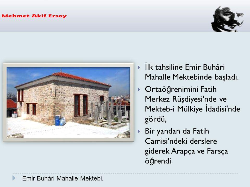 Bu can siperane vatan mücadelesini daha sonra İstiklal Marşımızı da yazacak olan Mehmet Akif Ersoy Çanakkale Şehitleri'ne şiiriyle adeta destanlaştırmıştır.