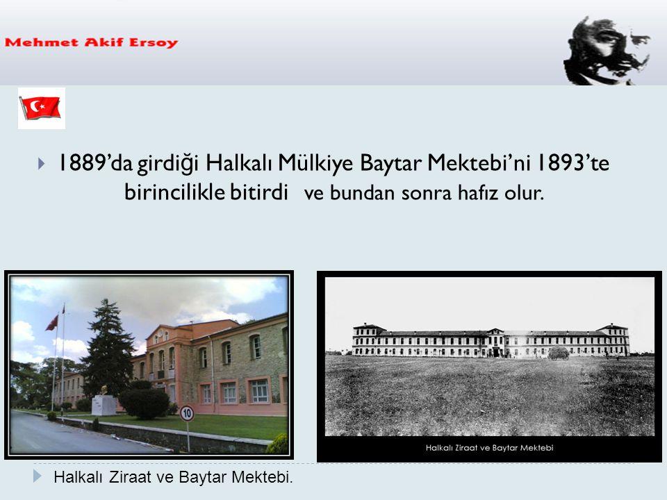  1889'da girdi ğ i Halkalı Mülkiye Baytar Mektebi'ni 1893'te birincilikle bitirdi ve bundan sonra hafız olur. Halkalı Ziraat ve Baytar Mektebi.