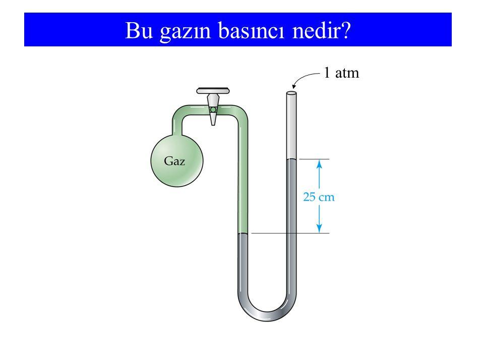 Bu gazın basıncı nedir? 1 atm