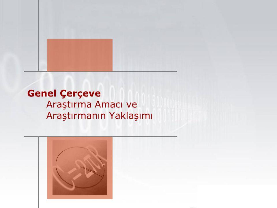 3 Genel Çerçeve Araştırmanın Gerekçesi AVM sektörüne ilişkin müşteri davranışı ve algısını ortaya koymak.