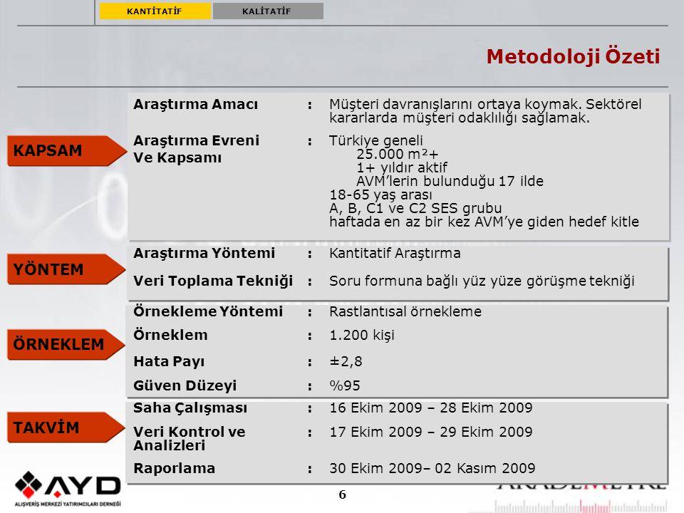 7 ARAŞTIRMANIN EVRENİ Araştırma 17 ilde gerçekleştirilmiştir.