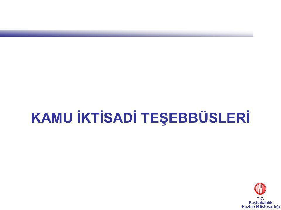 T.C. Başbakanlık Hazine Müsteşarlığı KAMU İKTİSADİ TEŞEBBÜSLERİ