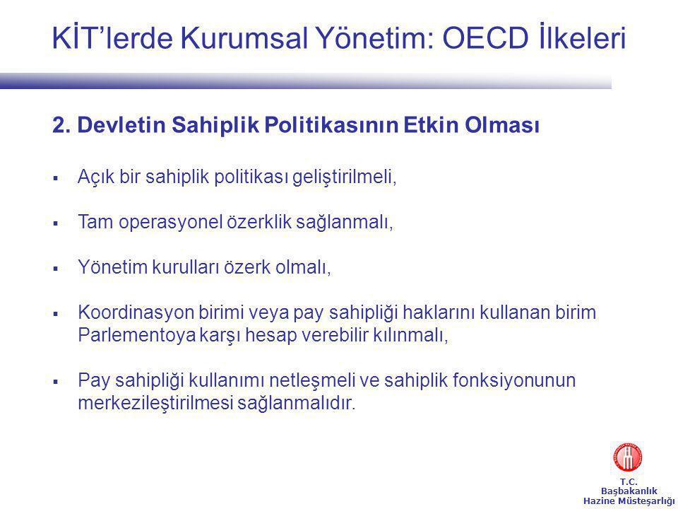 T.C.Başbakanlık Hazine Müsteşarlığı KİT'lerde Kurumsal Yönetim: OECD İlkeleri 2.