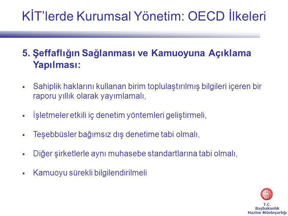 T.C.Başbakanlık Hazine Müsteşarlığı KİT'lerde Kurumsal Yönetim: OECD İlkeleri 5.