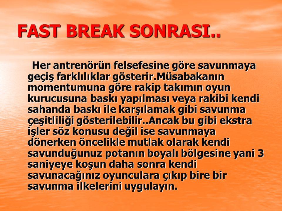 FAST BREAK SONRASI..