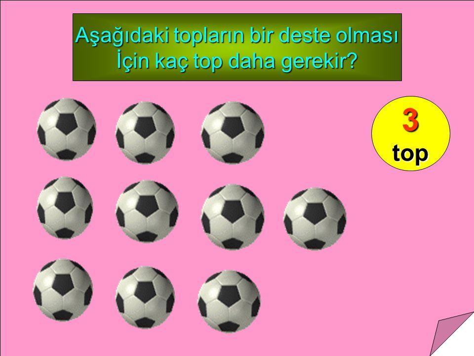 Aşağıdaki topların bir deste olması İçin kaç top daha gerekir? 3top