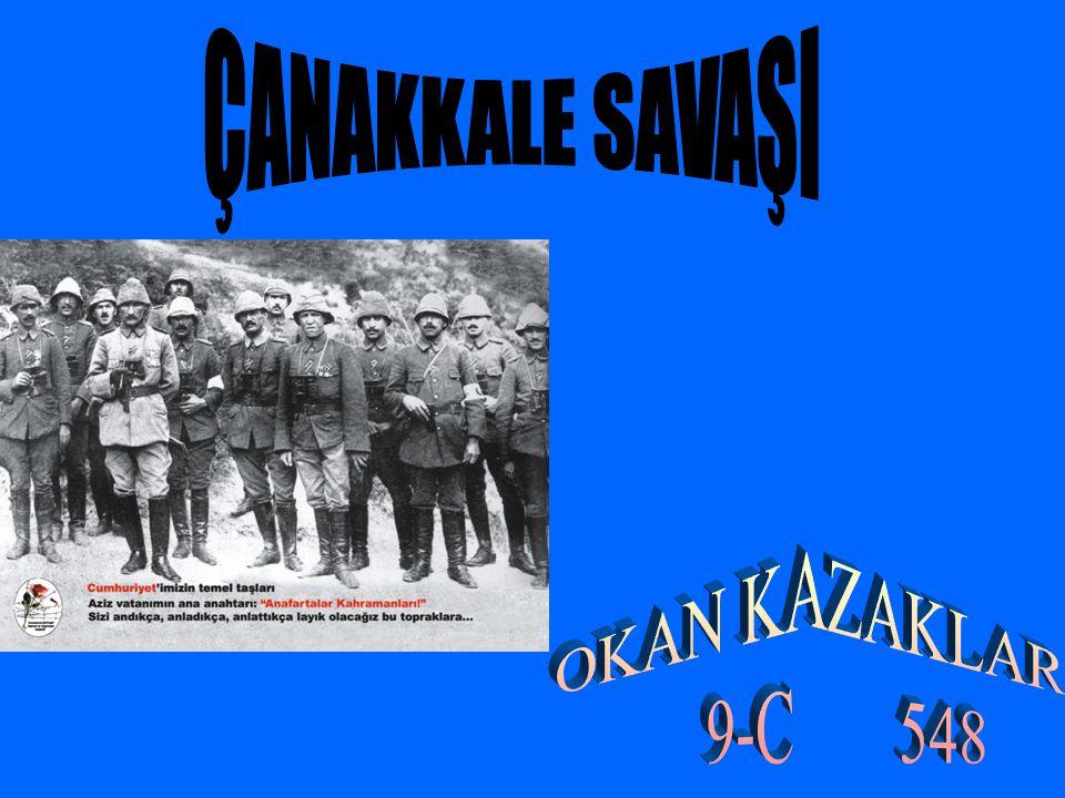 18 Mart 1915 te düşmanın Büyük Taarruz u sabah saat 11.00 de başladı.