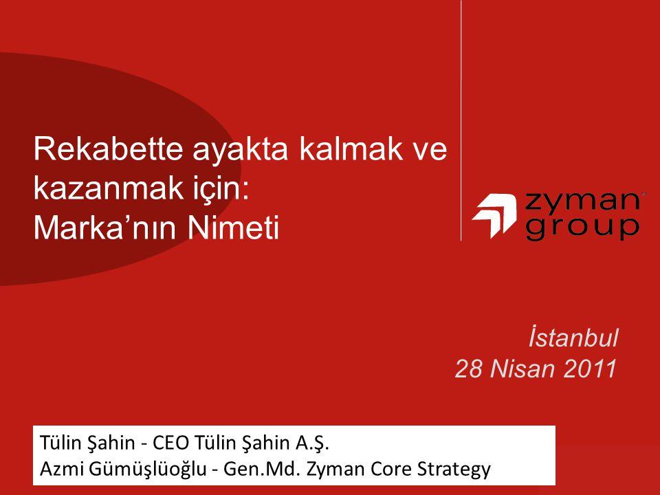 we bring clarity,speedimpact andto help our clients win İstanbul 28 Nisan 2011 Rekabette ayakta kalmak ve kazanmak için: Marka'nın Nimeti Tülin Şahin - CEO Tülin Şahin A.Ş.