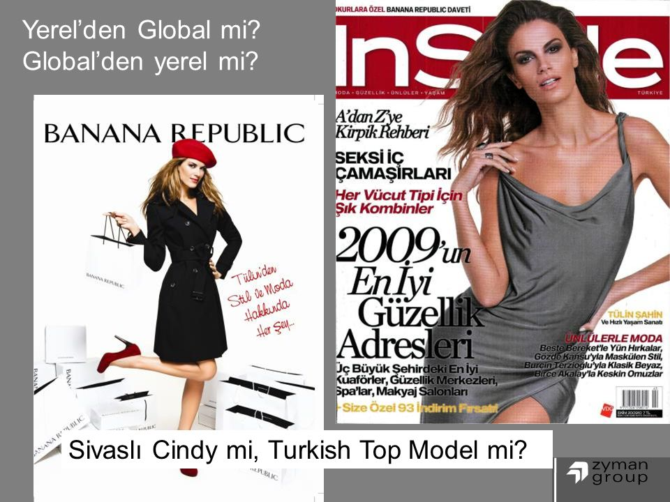 Yerel'den Global mi? Global'den yerel mi? 28 Sivaslı Cindy mi, Turkish Top Model mi?