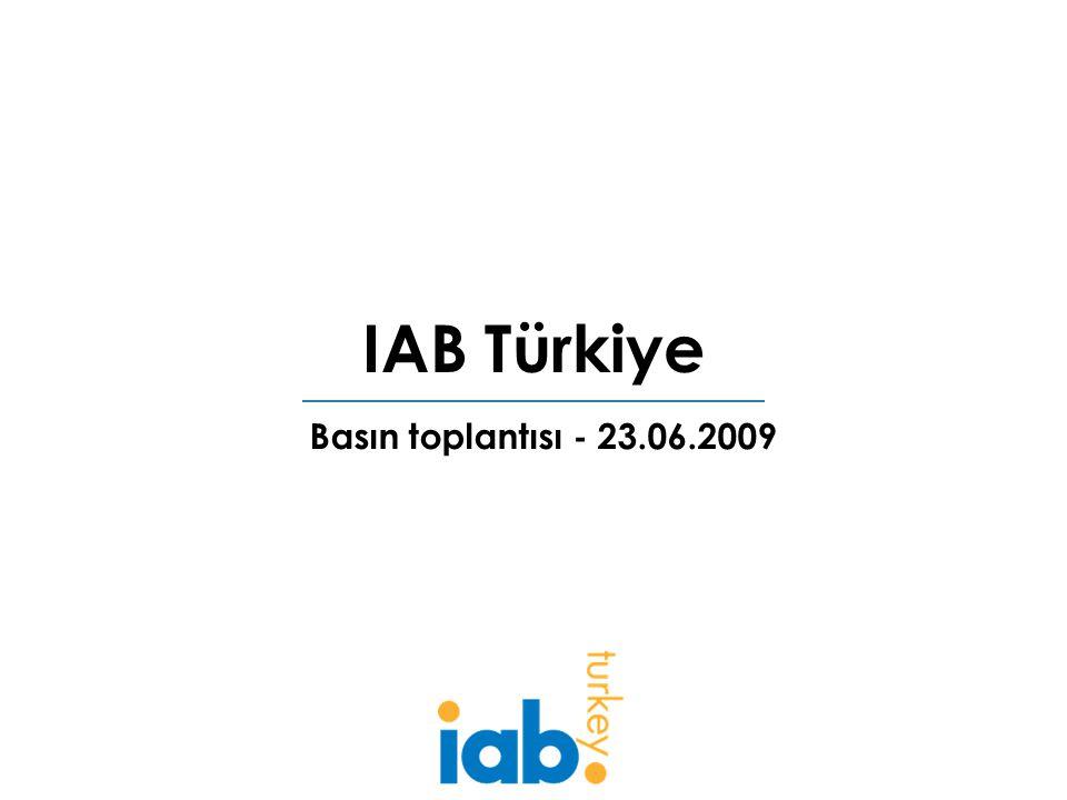 IAB Türkiye Basın toplantısı - 23.06.2009