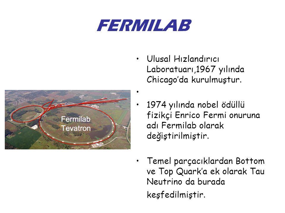 FERMILAB Ulusal Hızlandırıcı Laboratuarı,1967 yılında Chicago'da kurulmuştur.