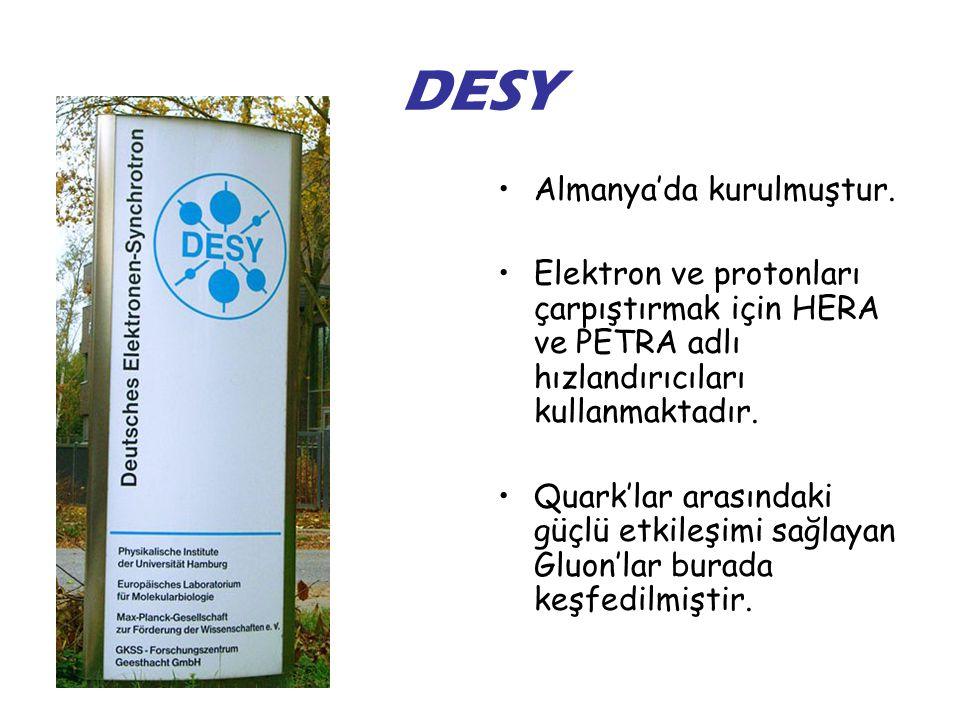 DESY Almanya'da kurulmuştur.