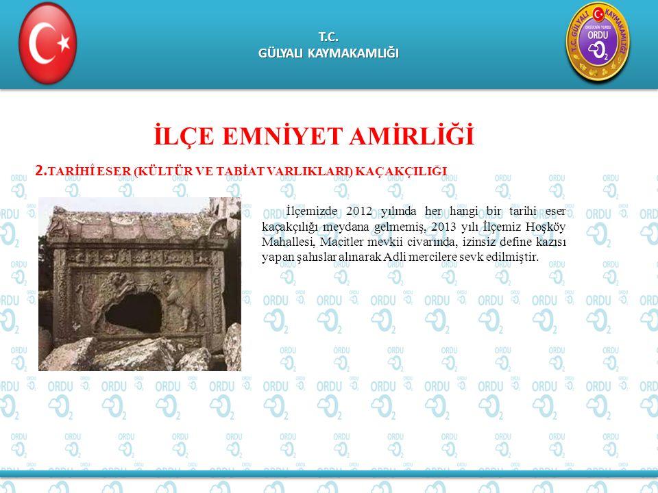 T.C. GÜLYALI KAYMAKAMLIĞI T.C. İLÇE EMNİYET AMİRLİĞİ 2.