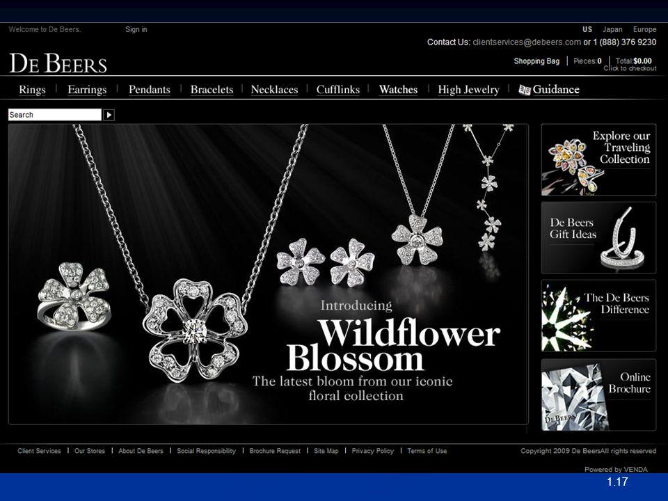 """1.17 Bir Emtianın Markalanmasına Örnek An Example of Branding a Commodity De Beers grubu """"A Diamond Is Forever"""" sloganını kullanmaktadır De Beers grub"""