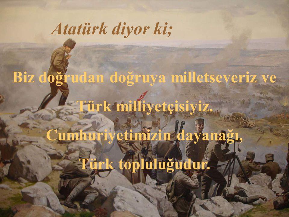 Atatürk diyor ki; Cumhuriyet, yüksek ahlaki değer ve niteliklere dayanan bir idaredir.
