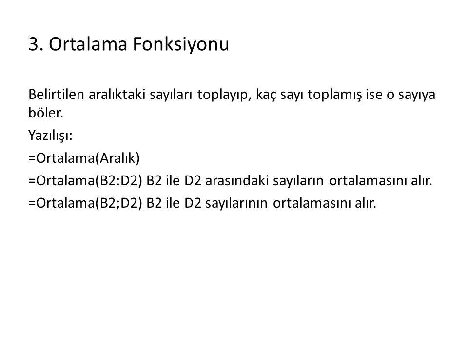 13.Eğer Fonksiyonu Eğer fonksiyonu çok sıkça kullanılan bir fonksiyondur.