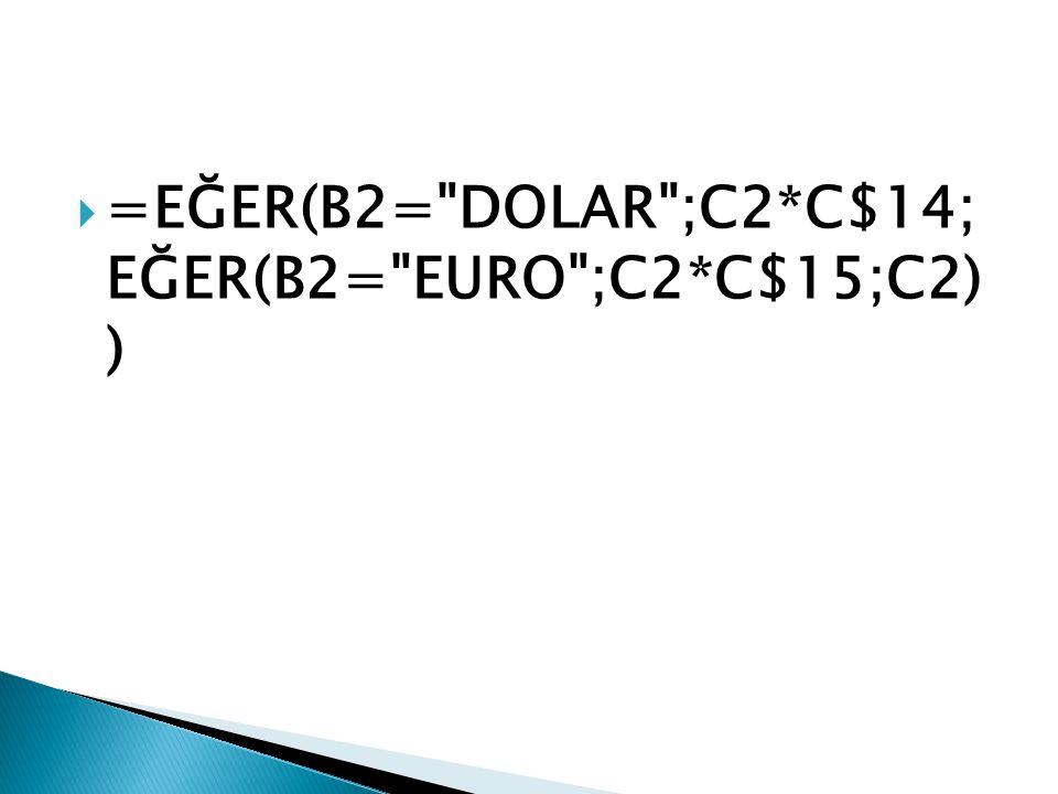  =EĞER(B2=