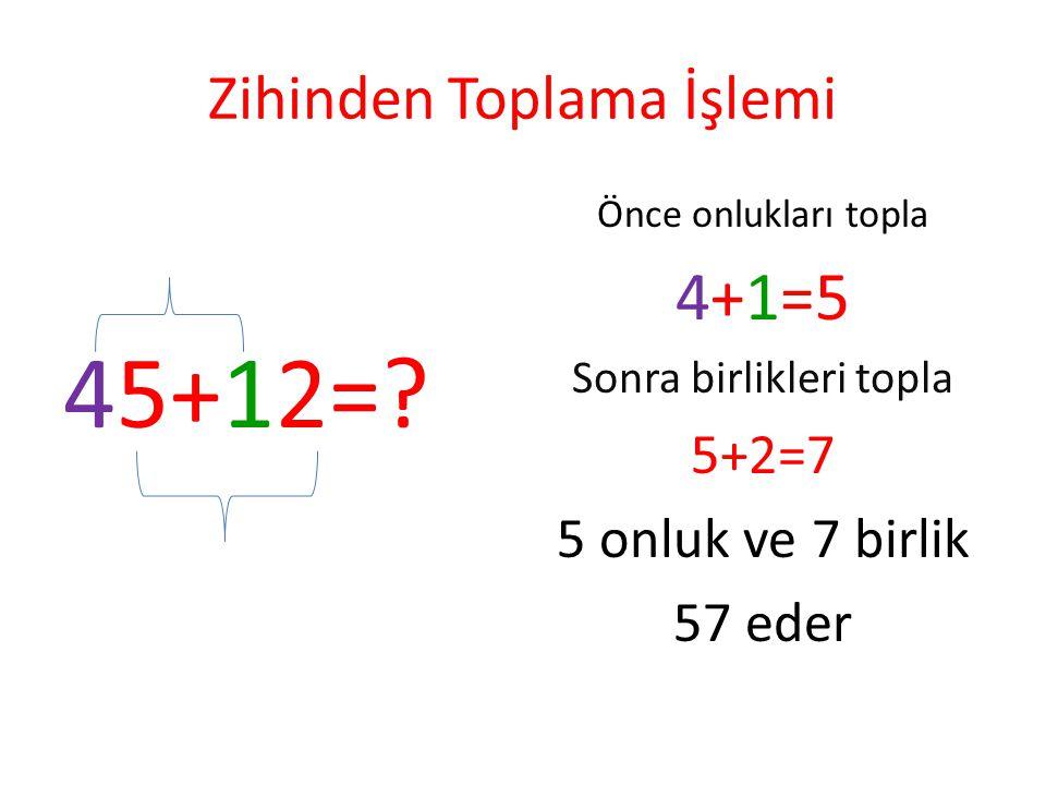 Zihinden Toplayınız 60+10+20=? 20+20+20+20=? 30+30+30=? 40+40=? 80+10=? 30+20+10+20+10=?