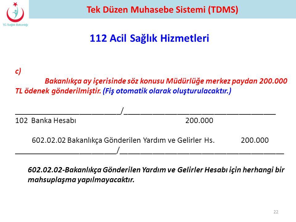 c) Bakanlıkça ay içerisinde söz konusu Müdürlüğe merkez paydan 200.000 TL ödenek gönderilmiştir. (Fiş otomatik olarak oluşturulacaktır.) _____________