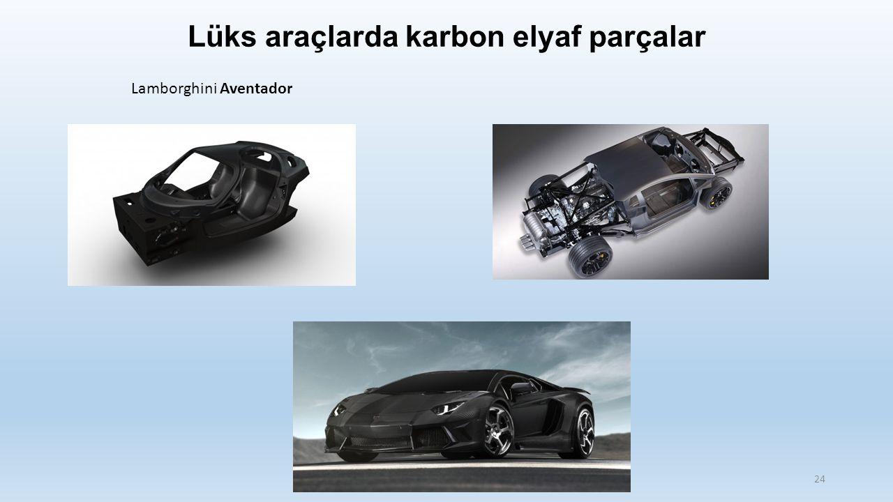 Lüks araçlarda karbon elyaf parçalar Lamborghini Aventador 24
