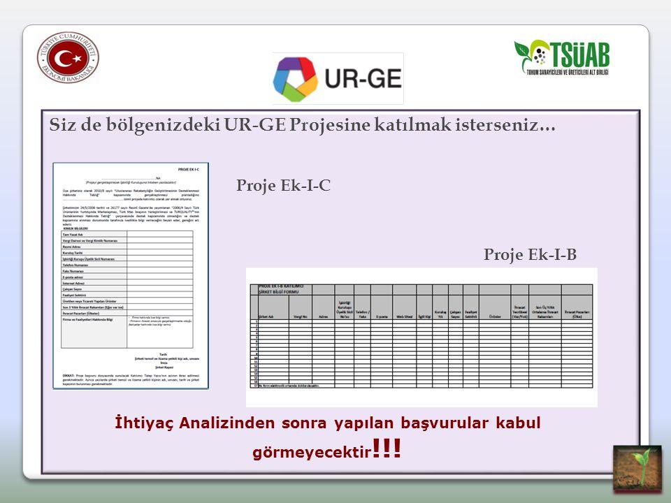 Siz de bölgenizdeki UR-GE Projesine katılmak isterseniz… Proje Ek-I-C Proje Ek-I-B İhtiyaç Analizinden sonra yapılan başvurular kabul görmeyecektir !!!