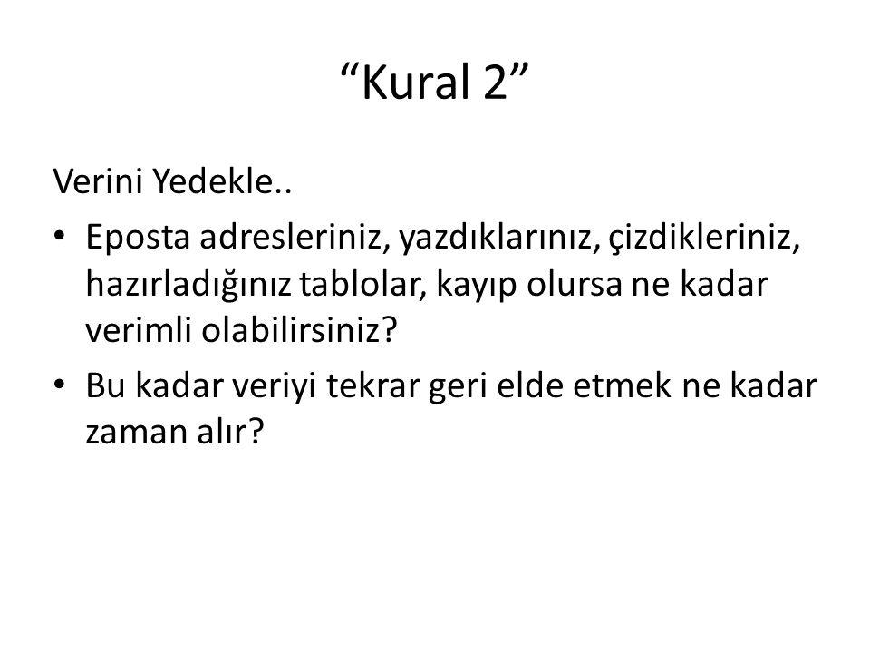 Kural 2 Verini Yedekle..