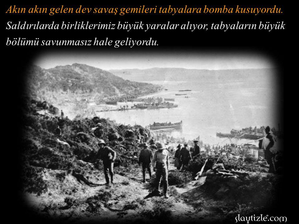 1915 yılında Çanakkale'ye akın gelen onlarca savaş gemisini kendi gözleri ile gördü Seyit Onbaşı.