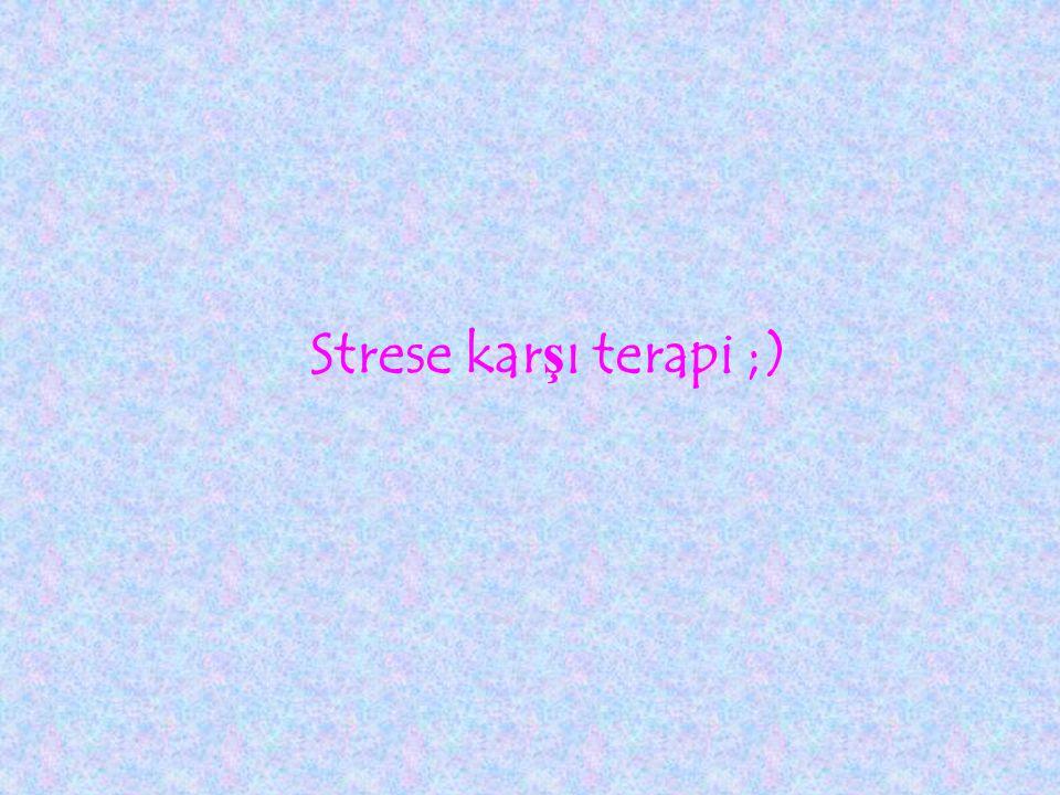 Strese kar ş ı terapi ;)