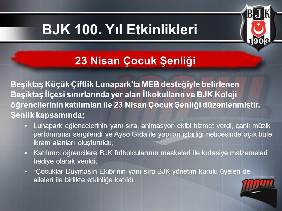 Beşiktaş Küçük Çiftlik Lunapark'ta MEB desteğiyle belirlenen Beşiktaş İlçesi sınırlarında yer alan İlkokulların ve BJK Koleji öğrencilerinin katılımla