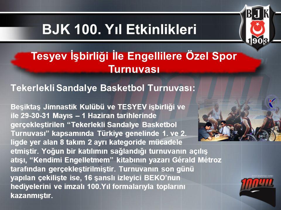 Tekerlekli Sandalye Basketbol Turnuvası: Beşiktaş Jimnastik Kulübü ve TESYEV işbirliği ve ile 29-30-31 Mayıs – 1 Haziran tarihlerinde gerçekleştirilen