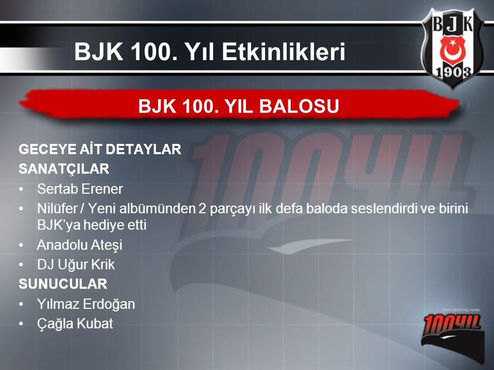 GECEYE AİT DETAYLAR SANATÇILAR Sertab Erener Nilüfer / Yeni albümünden 2 parçayı ilk defa baloda seslendirdi ve birini BJK'ya hediye etti Anadolu Ateş