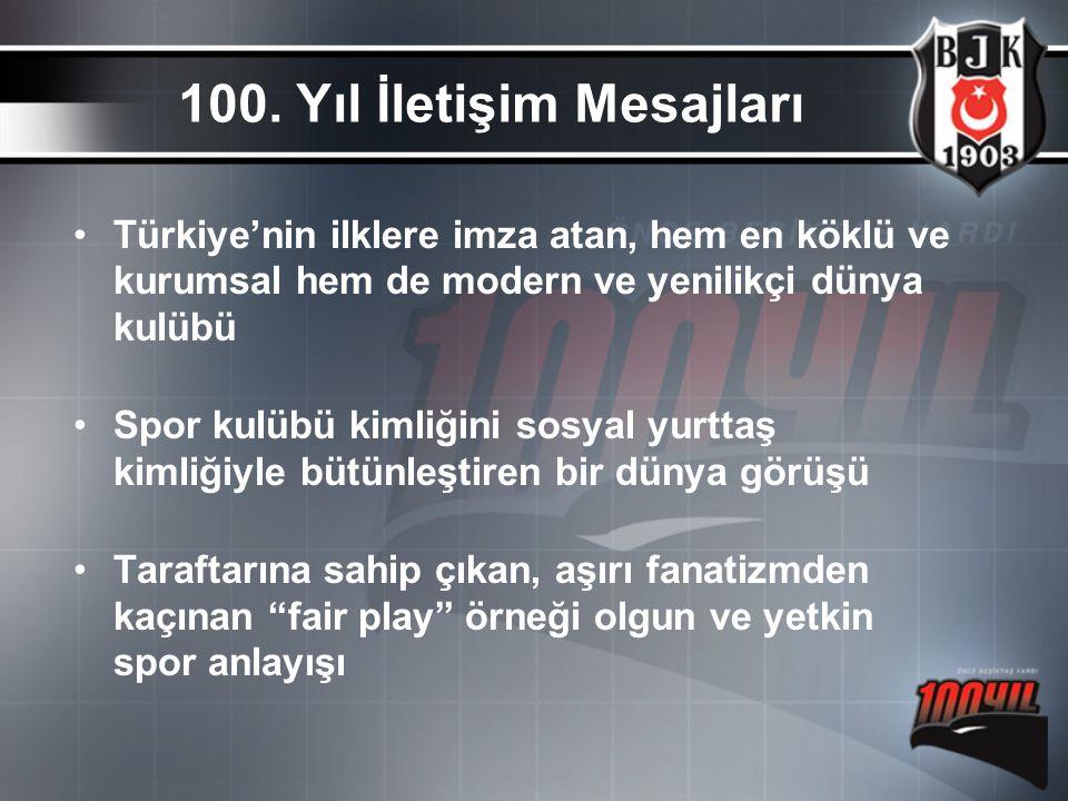 Türkiye'nin ilklere imza atan, hem en köklü ve kurumsal hem de modern ve yenilikçi dünya kulübü Spor kulübü kimliğini sosyal yurttaş kimliğiyle bütünl