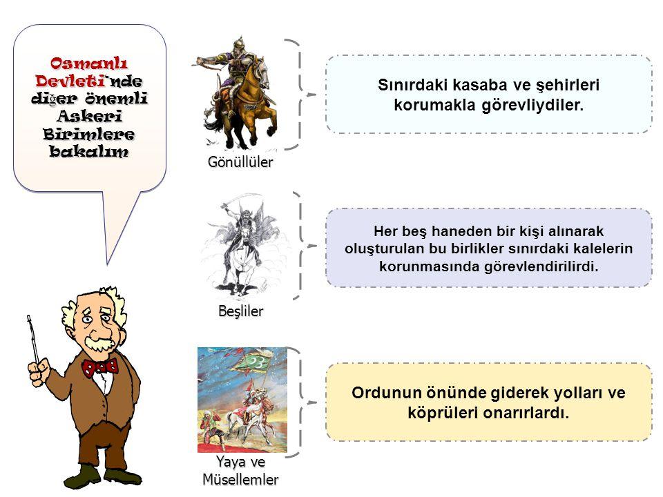 Osmanlı Devleti'nde di ğ er önemli Askeri Birimlere bakalım Osmanlı Devleti'nde di ğ er önemli Askeri Birimlere bakalım Devletin sınır boylarında bulu