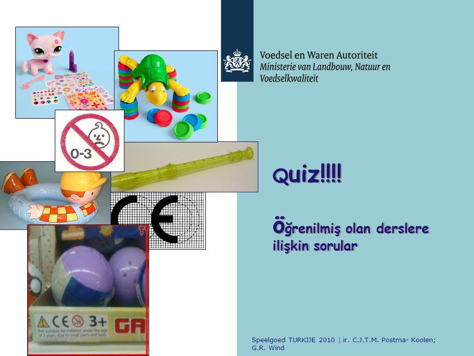 Quiz A.Küçük çocuklar için tasarlanmış olan oyuncaklarda boğulma tehlikesi yaratabilecek küçük parçaların olup olmadığını kontrol etmek için.
