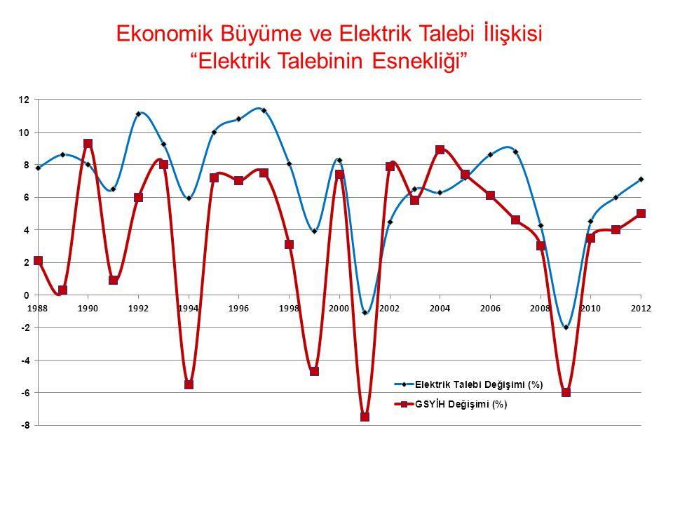 """Ekonomik Büyüme ve Elektrik Talebi İlişkisi """"Elektrik Talebinin Esnekliği"""""""