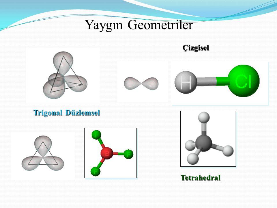 Yaygın Geometriler Çizgisel Trigonal Düzlemsel Tetrahedral