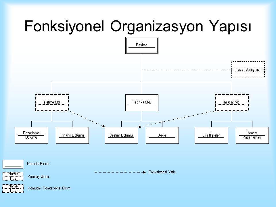 Fonksiyonel Organizasyon Yapısı