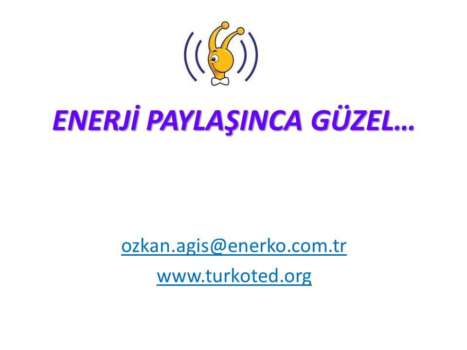 ENERJİ PAYLAŞINCA GÜZEL… ozkan.agis@enerko.com.tr www.turkoted.org