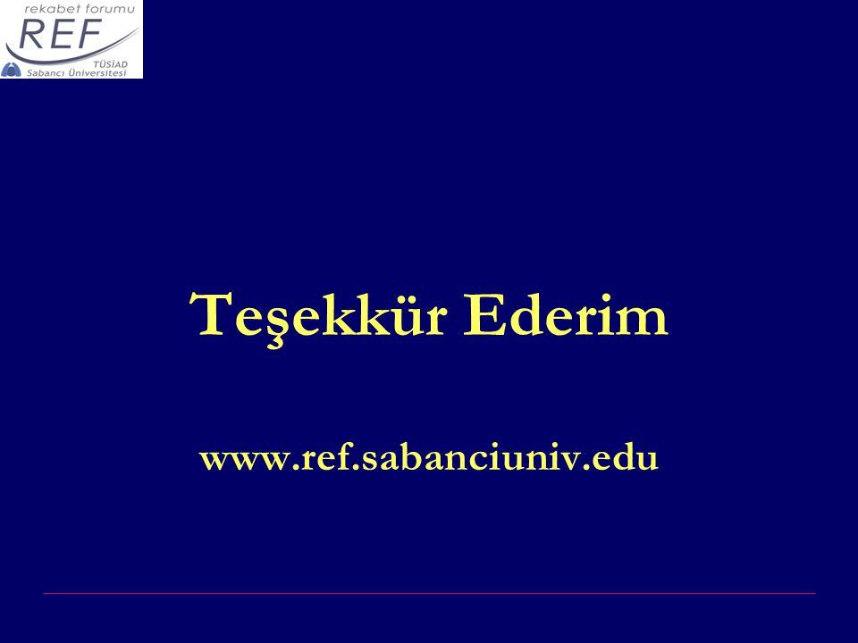 Teşekkür Ederim www.ref.sabanciuniv.edu