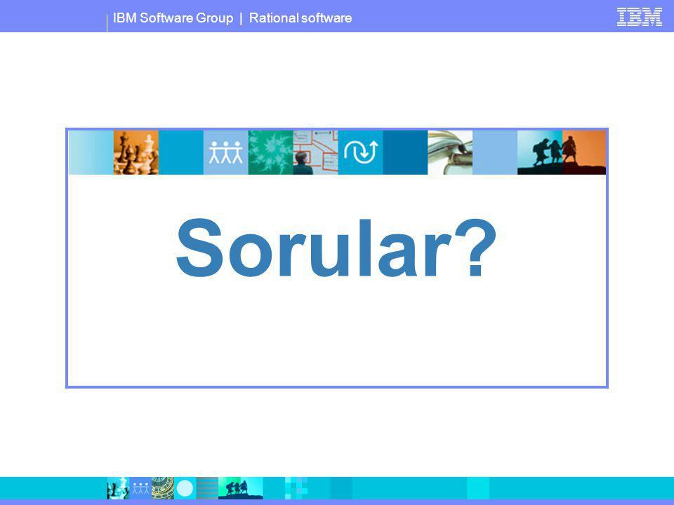 IBM Software Group | Rational software Sorular?