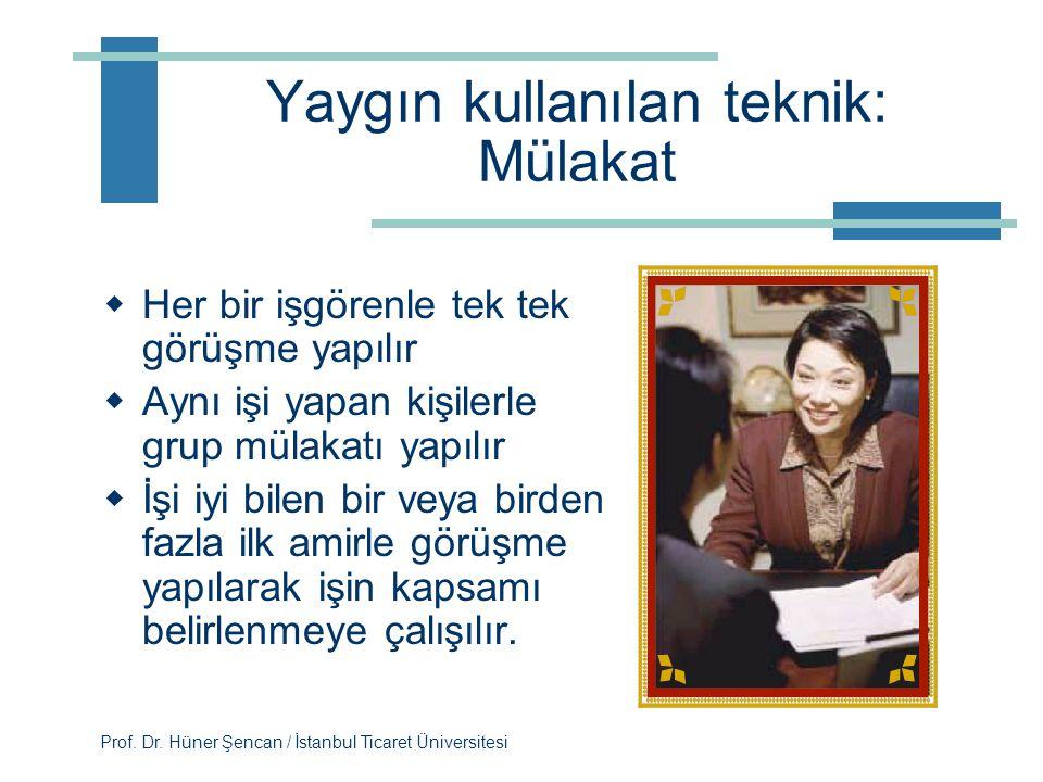 Prof. Dr. Hüner Şencan / İstanbul Ticaret Üniversitesi İşgörenler kaygılı olabilir, çünkü  Değişime her zaman direnç vardır  İşin yapısındaki görevl