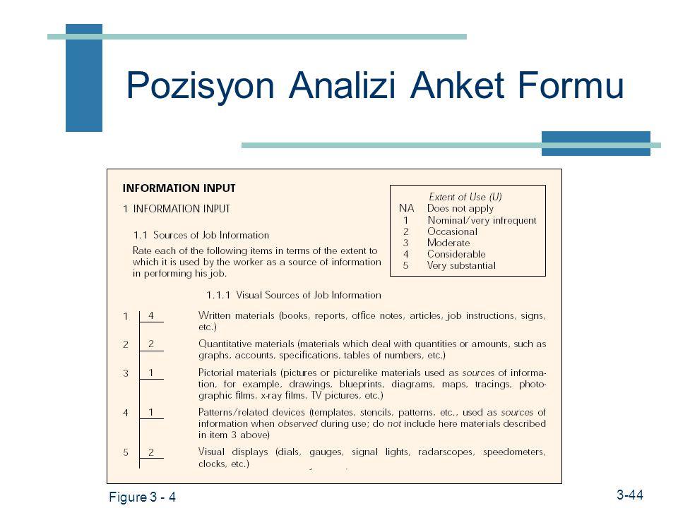 Prof. Dr. Hüner Şencan / İstanbul Ticaret Üniversitesi Sayısal iş çözümlemesi teknikleri  Pozisyon Analizi Anket Formu (PAQ) 194 maddeli anket formu
