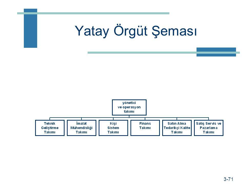 Geleneksel Örgüt Şeması 3-70
