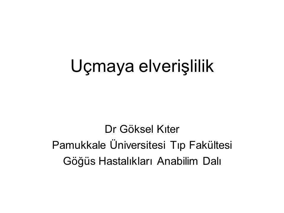 Uçmaya elverişlilik Dr Göksel Kıter Pamukkale Üniversitesi Tıp Fakültesi Göğüs Hastalıkları Anabilim Dalı