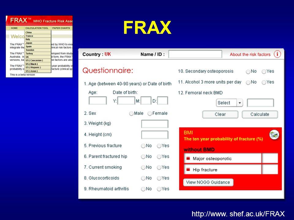 FRAX http://www. shef.ac.uk/FRAX